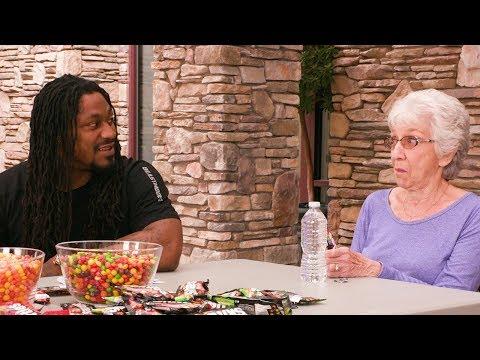 Skittles  Marshawn Lynch Brings Sweet Heat to a Senior Living Community