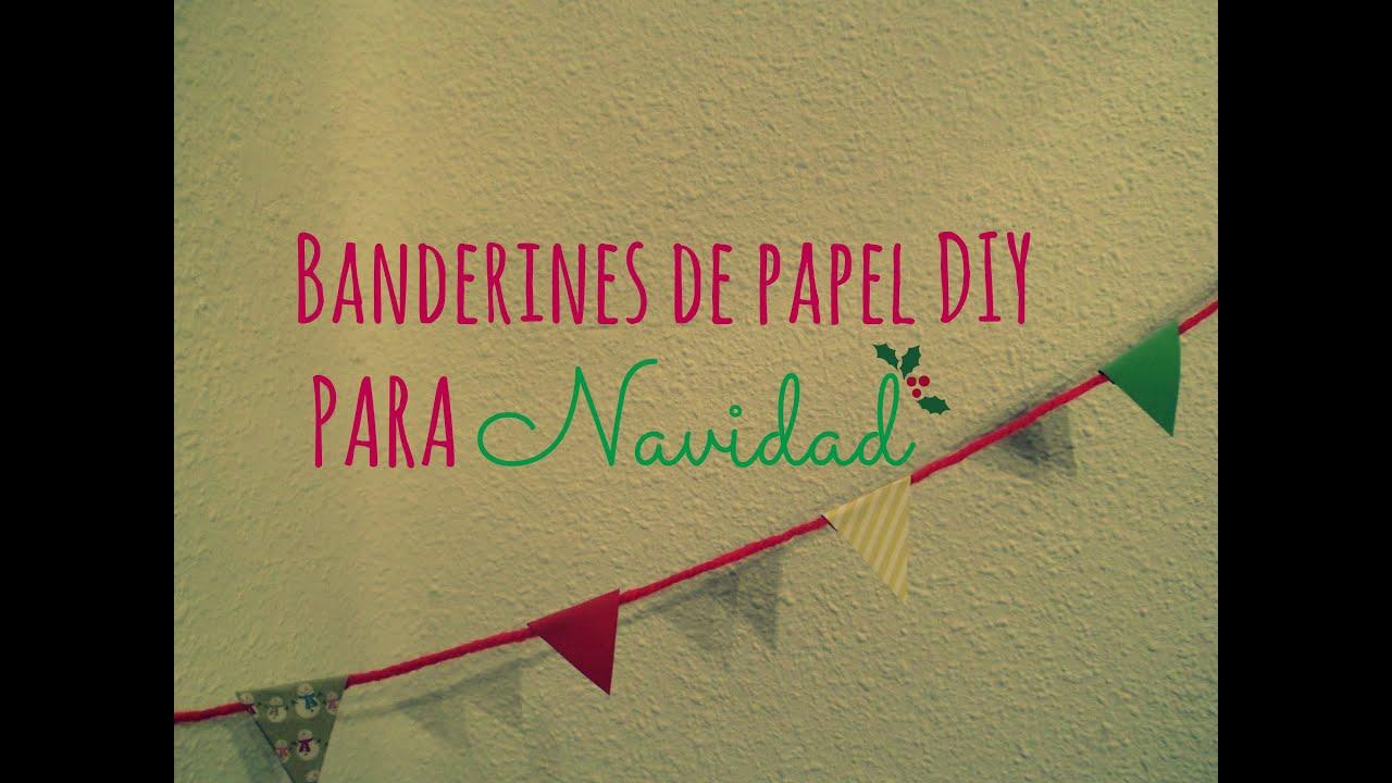 Manualidades banderines diy de papel para decorar en - Manualidades de papel para decorar ...