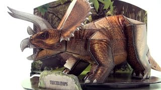 Triceratops DINO 3D Puzzle  - Dinosaur model in forest scene - Build a Triceratops for kids