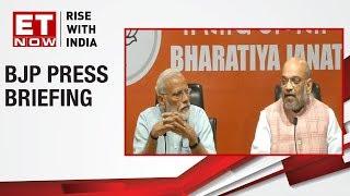PM Narendra Modi and BJP Chief Amit Shah brief the media | Full Press Conference
