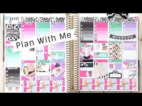 Plan With Me: Planner Addict | Erin Condren Weekly June 2017