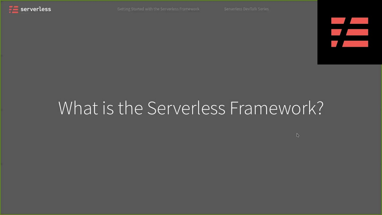 Getting started with the serverless framework
