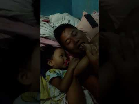 Baby making dad to lick her sole..funny..