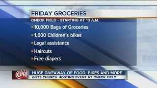 GUTS grocery giveaway to benefit 10,000 people; bicycles, medical services and more available