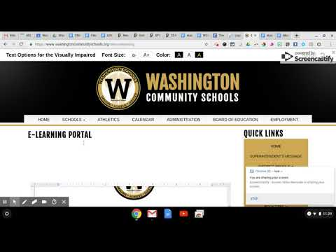 Washington Community Schools   eLearning Day Web Portal   Accessing Lessons 2