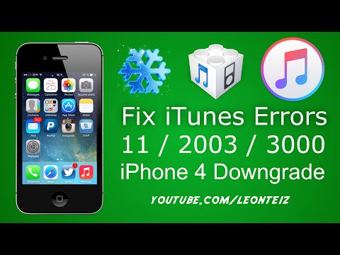 How to fix iTunes error 11 / 2003 / 3000 when downgrading iPhone 4  - GeekGrade