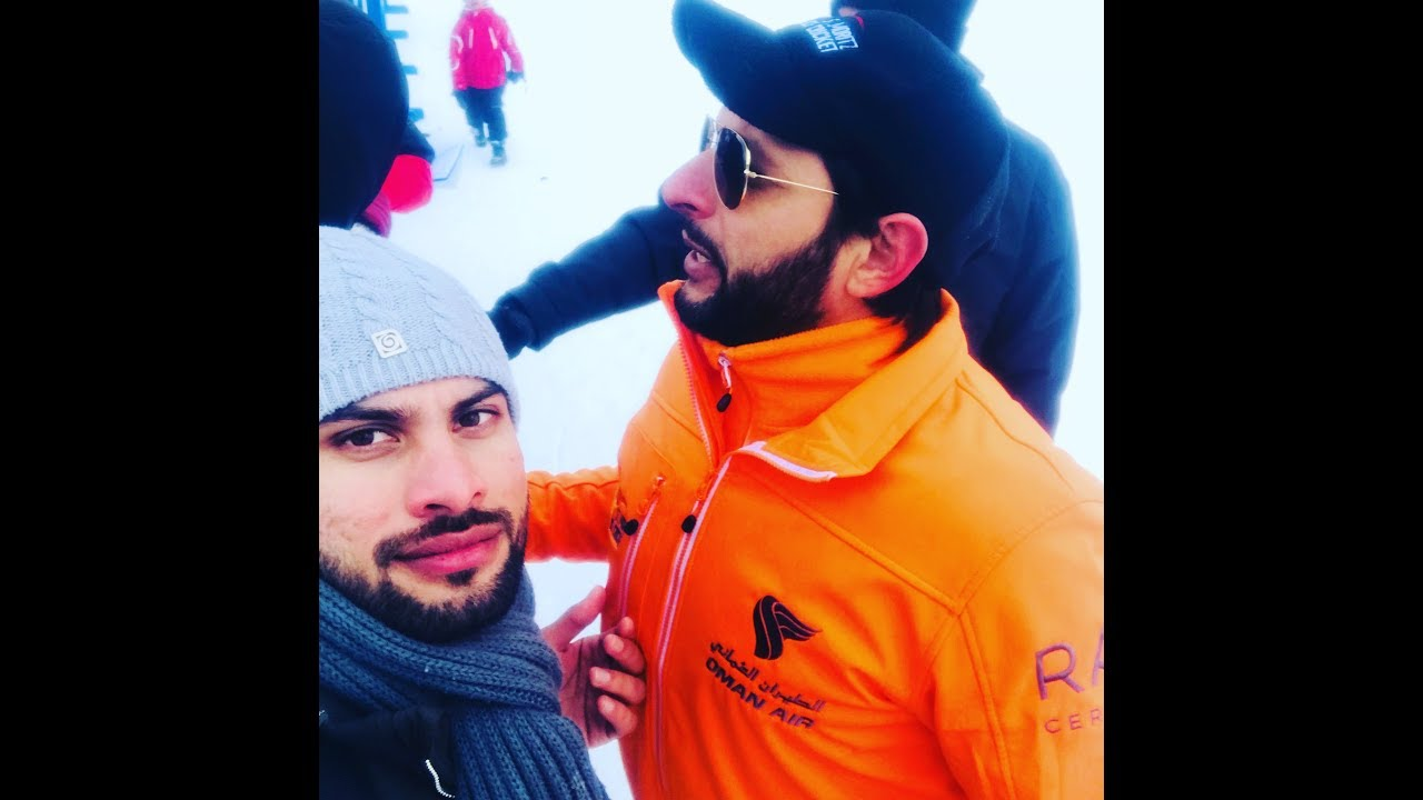 Pakistani boys vlog in st moriz switzerland | ice cricket challenger | shahid afridi | waseem akram
