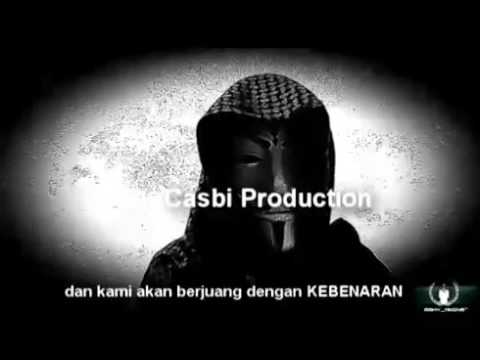 Anonymous rilis video ancam serang polisi indonesia chat rizieq Firza 360p
