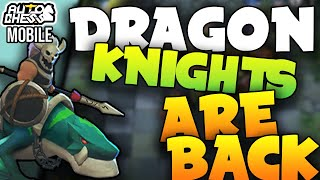 Dragon Knights are BROKEN!🐲6 Knight Buff (70% SHIELD CHANCE!) | Auto Chess Build Guide
