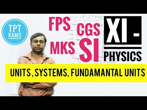 Units,Fundamental Units,Systems of Units /MKS/CGS/FPS/SI- #3 Class-XI Physics | TPT- RAMS | HINDI