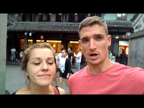 Eating BRAIN at JINLI Night Market in CHENGDU, China | VLOG 62