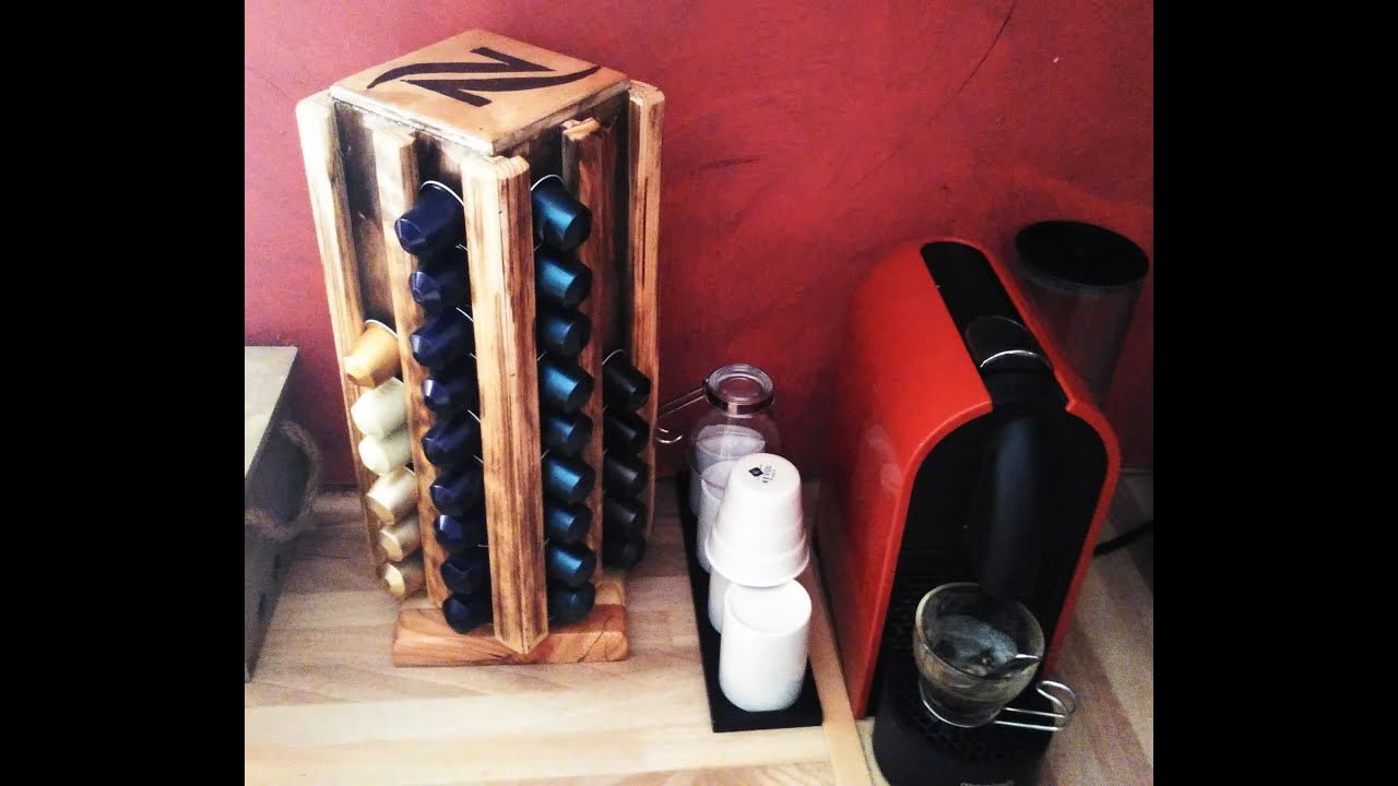 7 nespresso caps rack rangement pour dosettes nespresso youtube - Rangement dosette nespresso ...