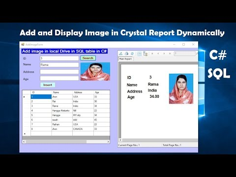 How To Add Image And Display In Crystal Report Dynamically In C#. Part 5