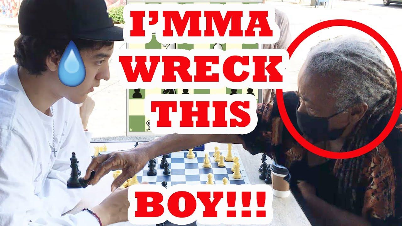 73 Year Old Chess Hustling Grandma Will Amaze You! Colette vs Kaiski