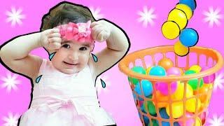 Celina And Hasouna  Color Balls For Kids   |   inDoor -  العاب طابات للاطفال