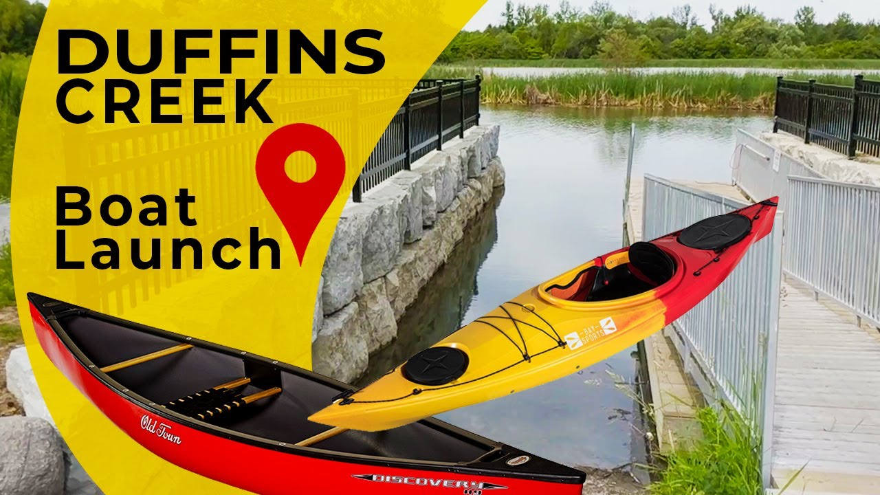 Duffins Creek, Rotary Park, boat launch for kayaks or canoes