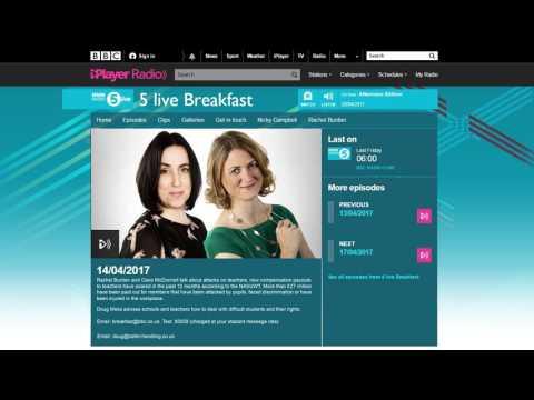 BBC Radio 5 live breakfast show interview