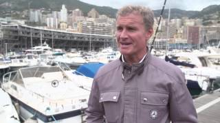 Mick Schumacher and David Coulthard in Monaco