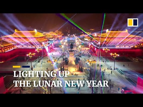 Major light show in China to celebrate Chinese New Year
