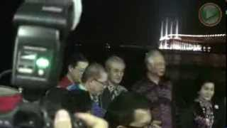 Penang 2nd Bridge Official Opening CM Lim Guan Eng warm welcome PM Najib