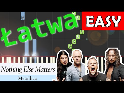 🎹 Nothing Else Matters (Metallica) - Piano Tutorial (łatwa wersja) 🎹
