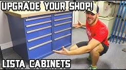 Heavy Duty Shop Workbench with Lista Cabinets