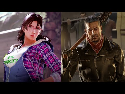 TEKKEN 7 NEGAN & JULIA ALL INTRO / WINPOSES  & RAGE ART COMPILATION