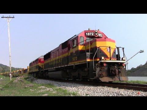 Panama Canal Railway Stack Train Makes a Hard Stop at Gamboa, Panama (April 23, 2017)
