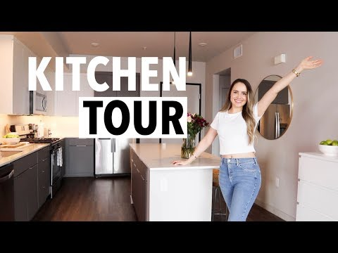 KITCHEN TOUR 2019 | what I eat, healthy foods + how I organize