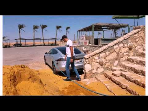 First Tesla in Egypt ..اول سيارة تسلا في مصر