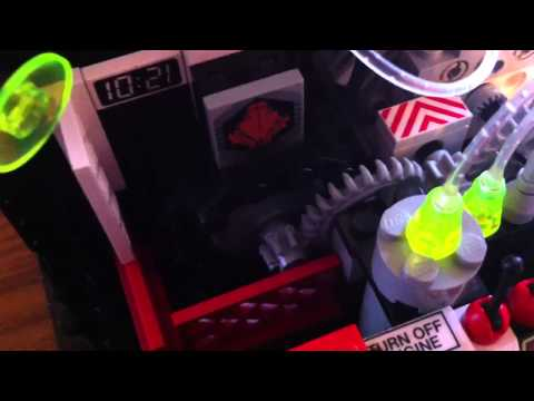 Lego phone charging dock with fiber optics
