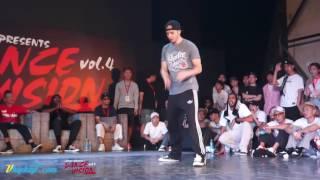 林师爷 vs Poppin C -  Dance Vision vol 4 Popping Best 16