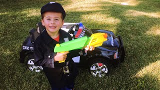 Kids Ride On Dodge Police Car - Review, Unboxing, and Driving.