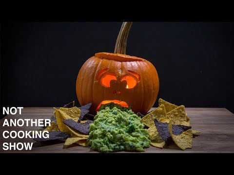 THE PUKING PUMPKIN with CHIPS and GUACAMOLE