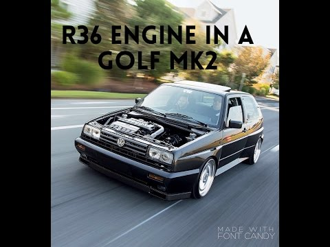 BRUTAL GOLF MK2 R36 ENGINE BIG TURBO