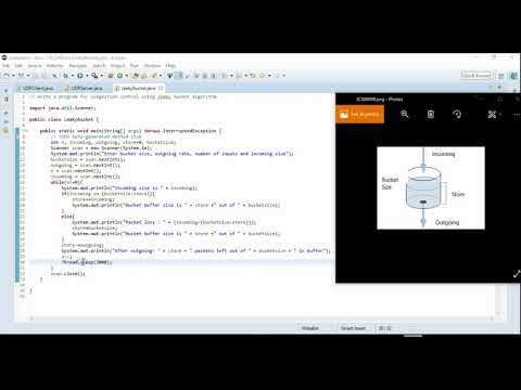 12. Leaky Bucket Algorithm Program | VTU 5th Sem Computer Network Lab 15CSL57