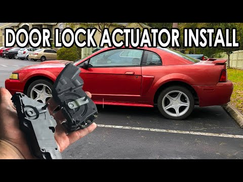 How To Replace Door Lock Actuator 94 04 Ford Mustang Doors Not Locking Or Unlocking Youtube