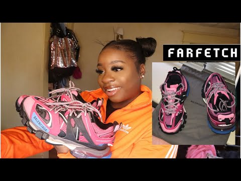 QUARANTINE DRIP💦 | BALENCIAGA TRACK SNEAKERS UNBOXING REVIEW & EURO SIZING FT. FARFETCH from YouTube · Duration:  20 minutes 51 seconds