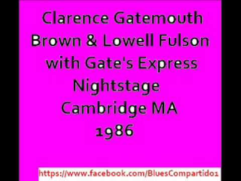 Clarence Gatemouth Brown & Lowell Fulson  with Gate's Express - Nightstage,  Cambridge. 1986