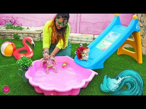 Primer Baño En La Piscina De ANUK Mi Bebé Reborn
