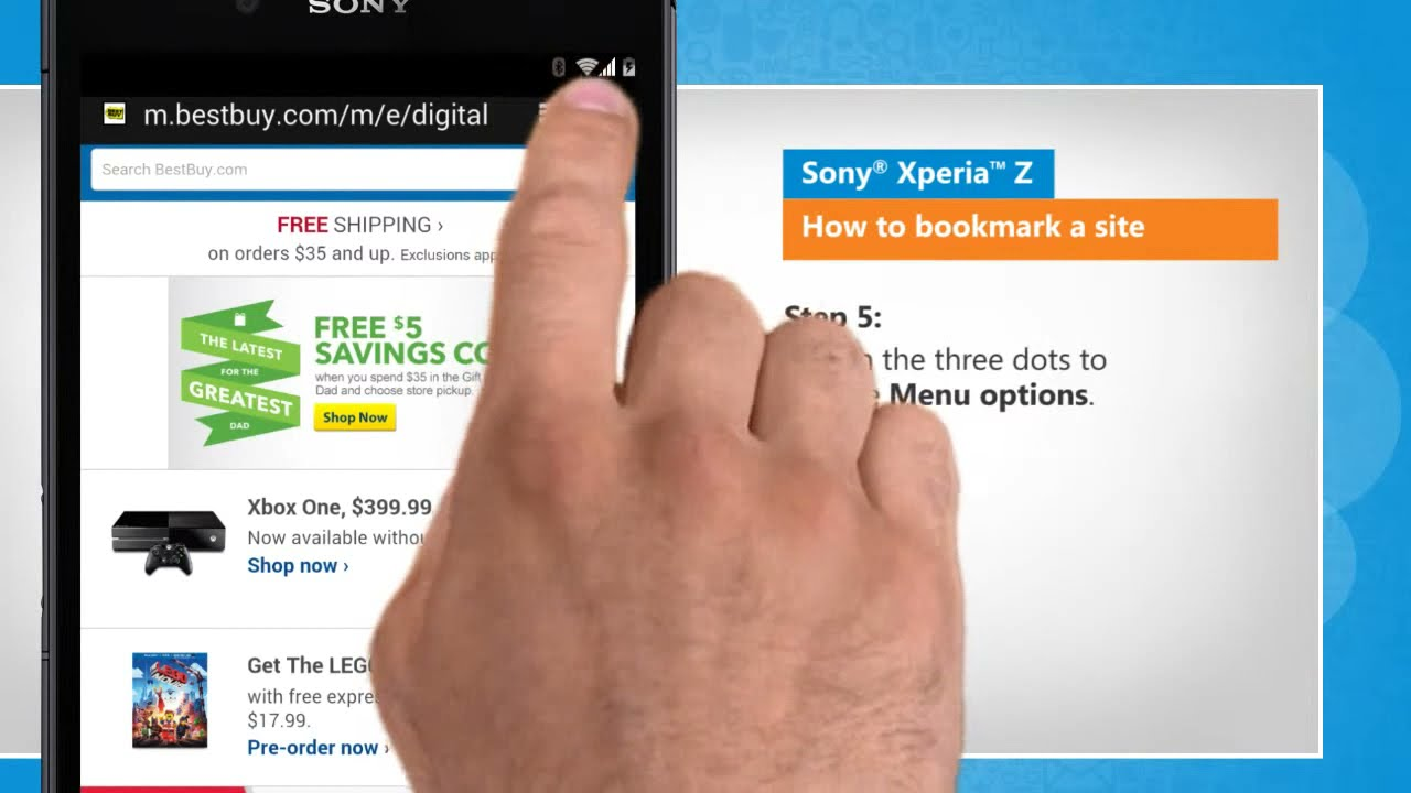 How To Bookmark A Site In Sony� Xperia™ Z