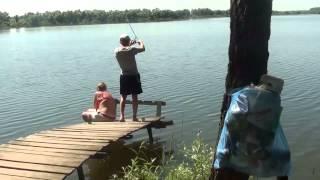 Татаринцево , ловля карпа 3,8 кг. на удочку