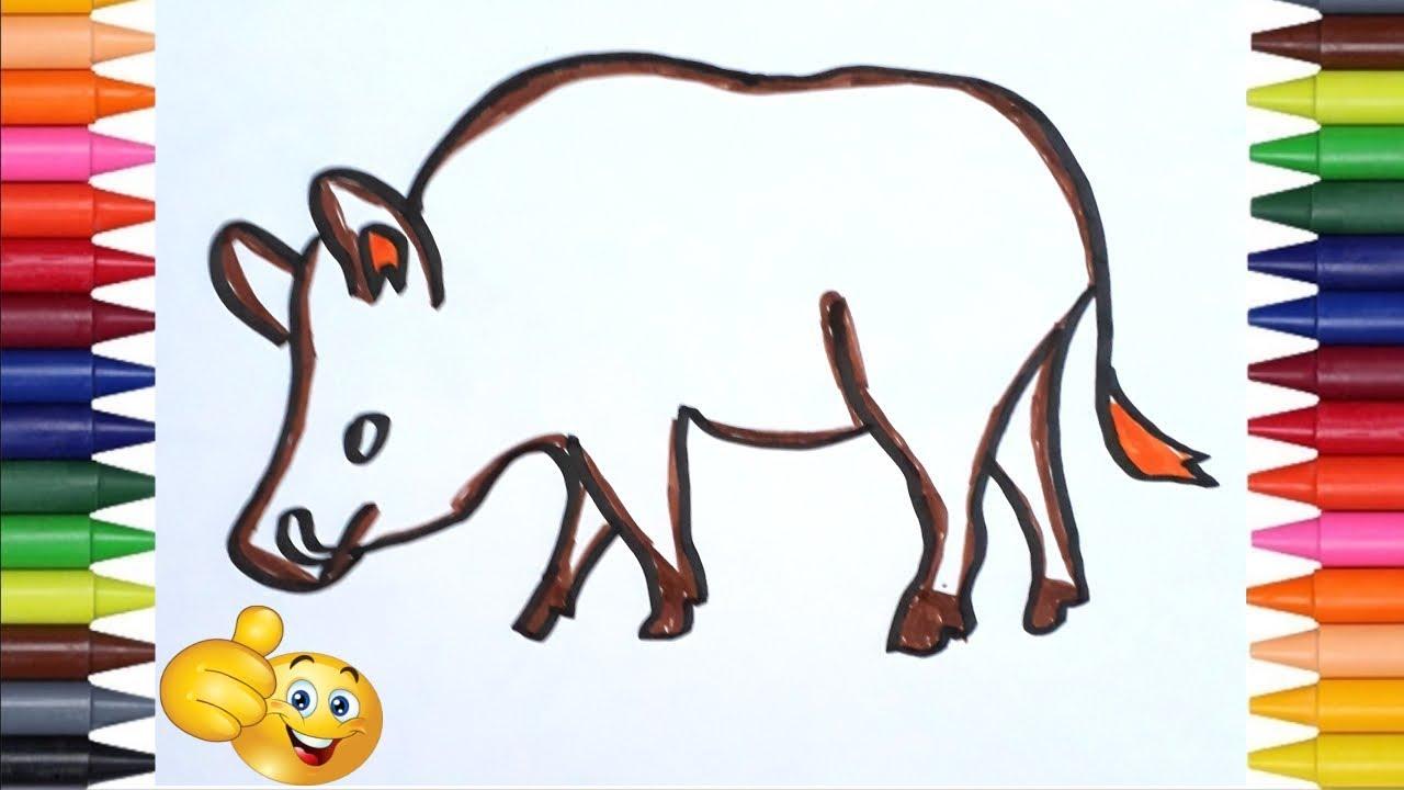 Cómo Dibujar Un Jabali Paso A Paso Dibujo Fácil De Jabali Youtube