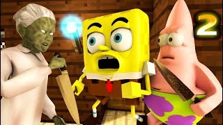 GRANNY vs. SPONGEBOB CHALLENGE 2! Minecraft Earth HIDE! (official) Minecraft Horror Game Animation