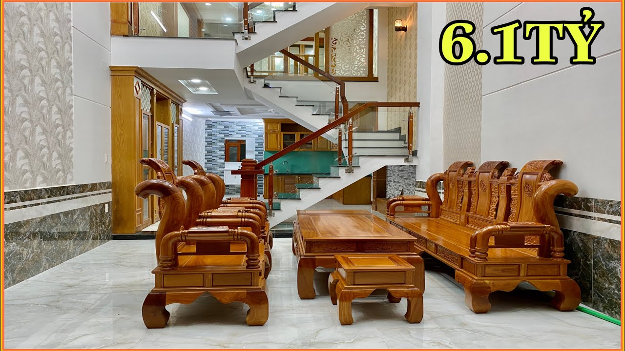 Bán nhà Tân Bình | 314] Thăm quan nhà đẹp 4 lầu tặng nội thất khủng gần chợ Tân Trụ Trường Chinh