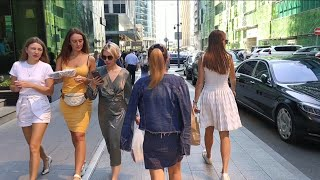 Walking business centre Moscow  Most beautiful girls in Moscow Russia  Afimall