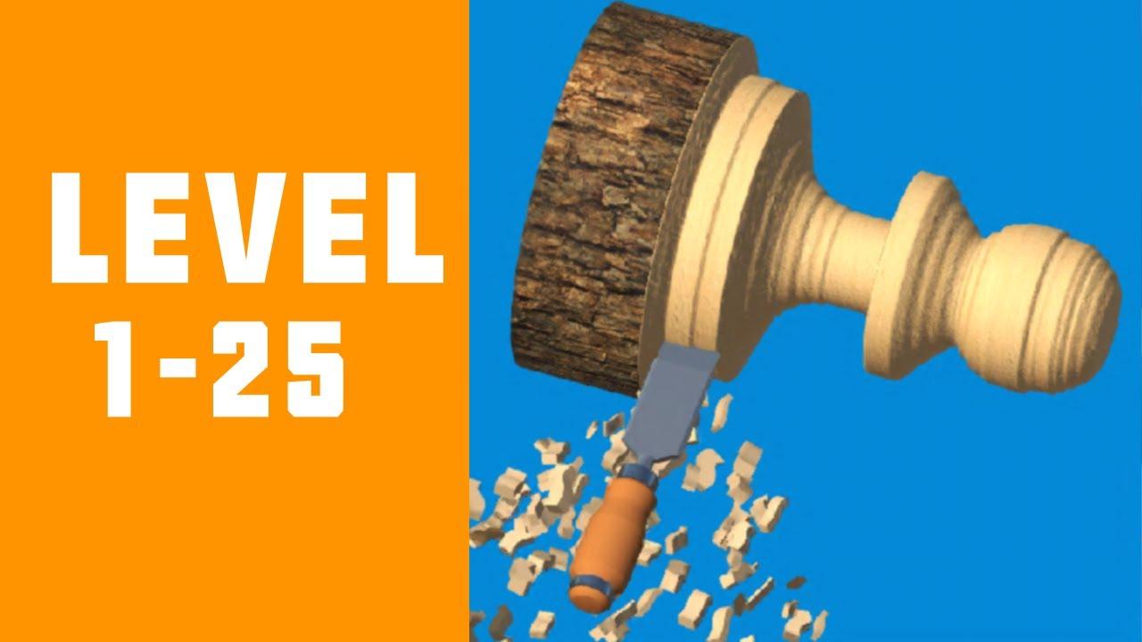 Woodturning 3d Game Walkthrough Level 1 25 Youtube