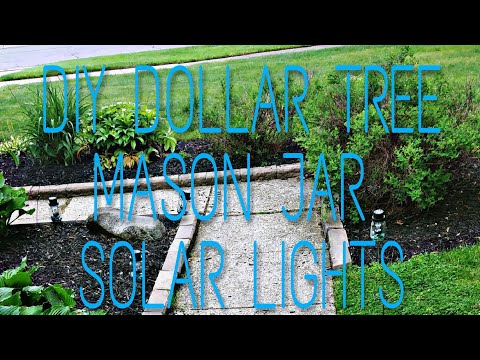 Dollar Tree 🌳 DIY Mason Jar Solar Lights