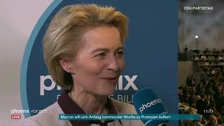 Interview mit Ursula von der Leyen auf dem CDU-Parteitag am 07.12.18
