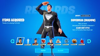 HOW TO GET SUPERMAN SKIN IN FORTNITE SEASON 7 - SHADOW SUPERMAN CLARK KENT (SHADOW)